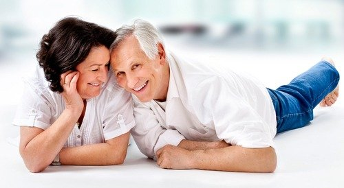 Mature dating couple